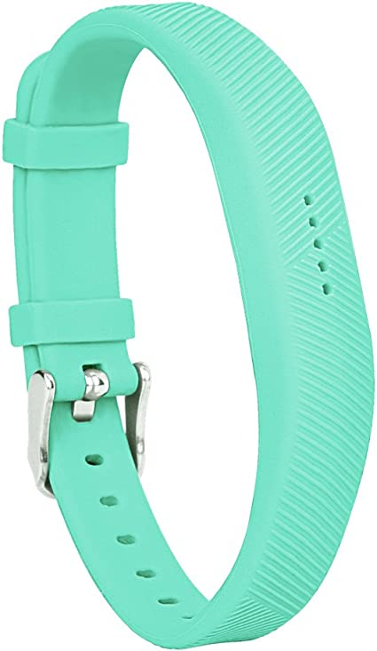 Steel Buckle For For Fitbit Alta Turquoise BlackWeb Replacement Band