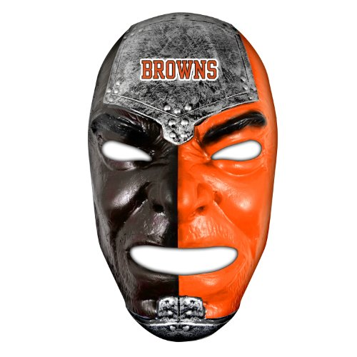 Brown Raider Adult Hat (Franklin Sports NFL Cleveland Browns Team Fan Face Mask)