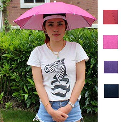 Umbrella Hat, Hometom Outdoor Foldable Sun Umbrella Hat Golf