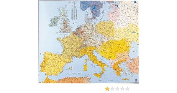 Mapa de Europa para pared, suministros de oficina: Amazon.es ...