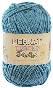 Bernat  Baby Blanket Yarn - (6) Super Bulky Gauge  - 10.5 oz -  Teal  - Single Ball  Machine Wash & Dry