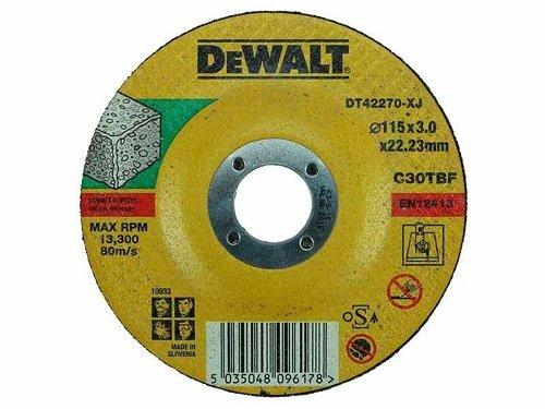 Dewalt DT42270-XJ Cutting Disc, Concrete Stone, 115 mm x 3 mm x 22.2 mm