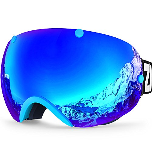 ZIONOR Lagopus XA Ski Snowboard Goggles for Adult Men Women with UV Protection Spherical Dual Lens Design