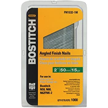 BOSTITCH FN1532-1M 2-Inch 15-Gauge FN Style Angled Finish Nails ...