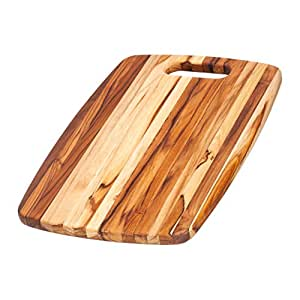 Teak Cutting Board Rounded Rectangle Chopping Board With Centered Handle 18 X 12 X 75 In By Teakhaus