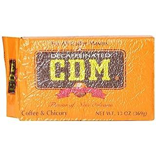 CDM Coffee & Chicory Decaffeinated Ground Coffee 13 Ounce Bag
