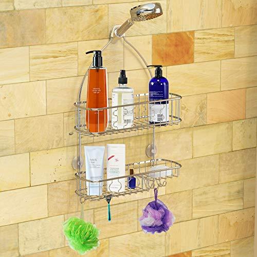 Simple Bathroom Shower Head Caddy Organizer, Chrome