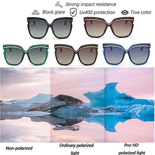 3dd374a1fda21 Amazon.com  Prsr Brand Glasses Fashion HD Polarized Sunglasses Diamond  Sunglasses(Green)  Beauty