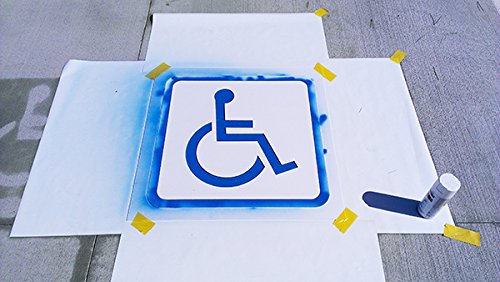 Fantastic Displays 40'' Handicap Parking Lot Stencil 2mm PVC WITH BORDER