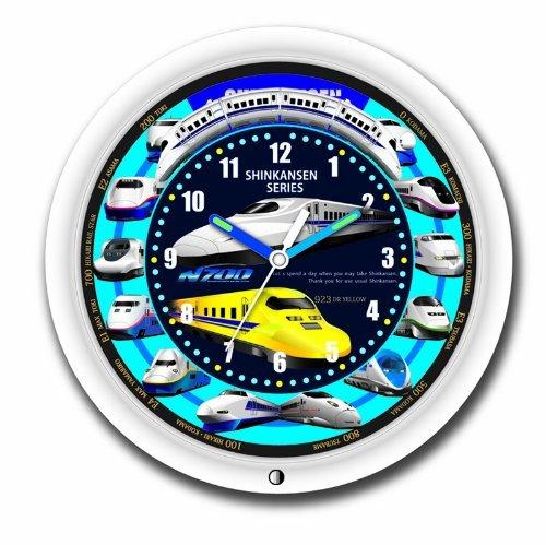 SRA 新幹線クロック 壁掛け時計 SR-WC15001WH (ホワイト) B0140ETNTA