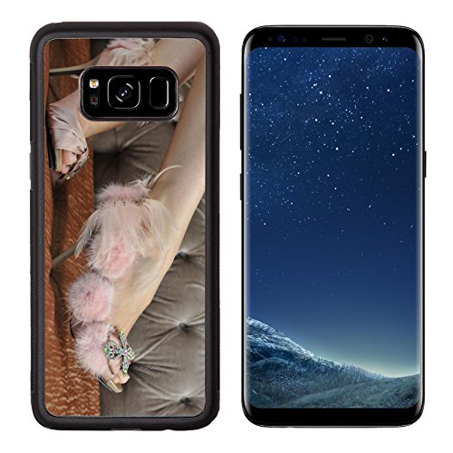 MSD Premium Samsung Galaxy S8 Aluminum Backplate Bumper Snap Case IMAGE ID: 18335766 Close up picture of model wearing designer shoes Backstage Beauty Box