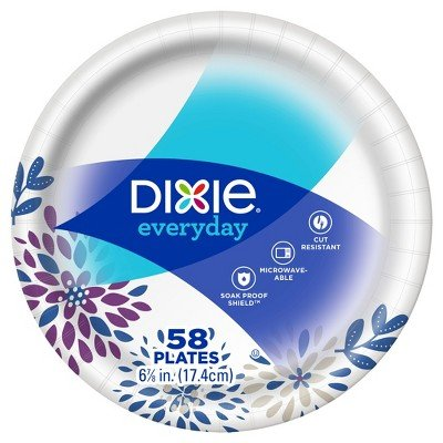 Dixie174; Everyday 6 7/8'' Paper Plates - 58ct Paisley Purple by Dixie