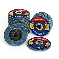 WORKPRO 20-pack Flap Disc, 4-1/2 x 7/8-i...