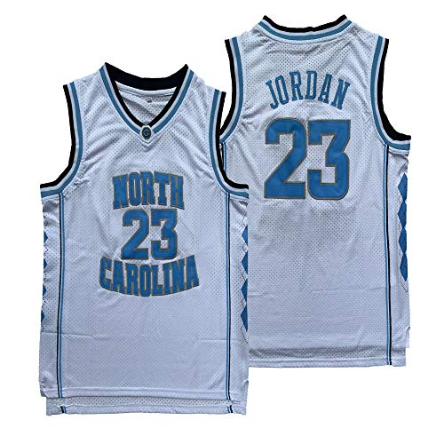 Michael 23 North Carolina Tar Heels College Stitched Basketball Jersey S-XXXL (White, XX-Large) ()