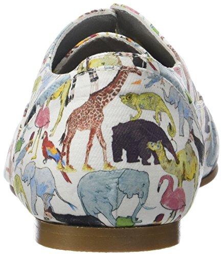 Donna Vintage Ippon Zoo Jaune Giallo Stringate Scarpe Derby Jaune Zoom ppYwdr
