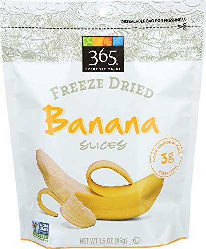 - 365 Everyday Value, Freeze Dried Banana Slices, 1.6 oz