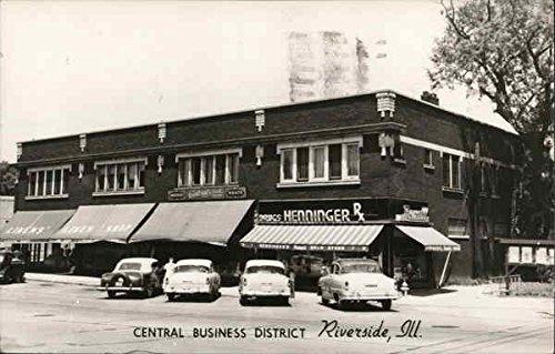 Central Business District, Henninger Drug Store Riverside, Illinois Original Vintage - Riverside Stores