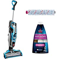 Bissell Crosswave Multi Surface Formula, 32oz Multi Surface Formula (with Multi-Surface Brush Roll+17859 All-in-One Multi-Surface Upright Vacuum)