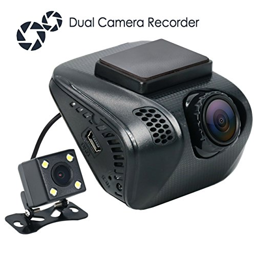 160 4 Channel Dvr (Acumen FHD 1080p Dual Dash Cam, Dashboard Camera Recorder with Sony Exmor Sensor, 4-Lane Wide-Angle View Lens. Rear Camera, G-Sensor, WDR, Loop Recording, Night Vision, Motion Detection, Parking Mode)
