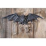 Key Hook Rack - Vampire Bat Key Holder Wall Sculpture - Bat Figure - Halloween Bats