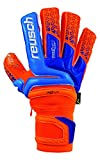 Reusch Prisma Supreme G3 Fusion Ortho-Tec Goalkeeper Glove, Orange/Blue, 9