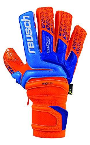 Reusch Prisma Supreme G3 Fusion Ortho-Tec Goalkeeper Glove, Orange/Blue, 9 ()