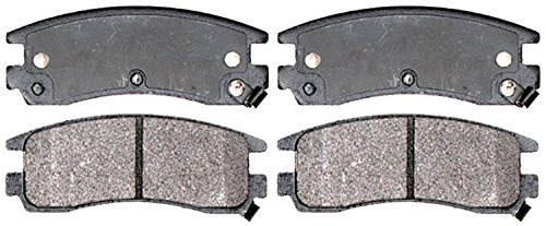 (ACDelco 14D714MH Advantage Semi-Metallic Rear Disc Brake Pad Set with Hardware)