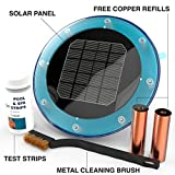 Solar Pool Ionizer Kills Algae Using 80% Less Chlorine & Keeps Water Sparkling Clear Without Algaecides | Treats Swimming Pools 500 to 35,000 Gallons | Save $300-500 per year in Chemicals