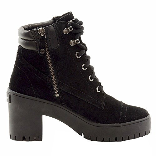 Lace Shelby Karan Boots Women's Black Donna Up DKNY Fashion Shoes xRTqtYngw