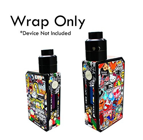 Custom Skin Decal for VOOPOO DRAG (Decal Only, Device Is Not Included) - Vinyl Wrap Protective Sticker by VCG Customs (Sticker Bomb)