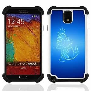 - Glowing Dragon/ H??brido 3in1 Deluxe Impreso duro Soft Alto Impacto caja de la armadura Defender - SHIMIN CAO - For Samsung Galaxy Note3 N9000 N9008V N9009