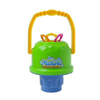 TOYANDONA Bubble Bucket Toy Portable Removable Bubble Blower Wands Blow Bubbles Toy Educational Toy for Girl Boys Without Bubble Water: Toys & Games