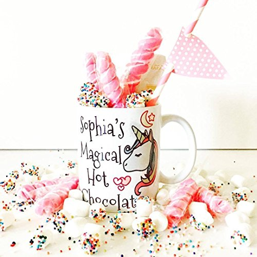 Unicorn Hot Chocolate Mug | Personalized Hot Chocolate Mugs | Unicorn Party | Magical Unicorn Hot Chocolate Mug (Personalized Chocolate Hot)