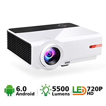 HD Smart Projector, WiFi Office Projector 2800 lúmenes Altavoces ...
