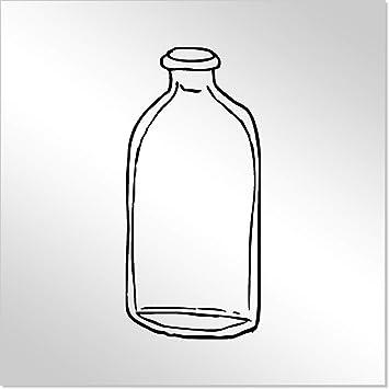 10cm Botella de Vidrio Espejo de Acrílico Decorativo (MT00001251)