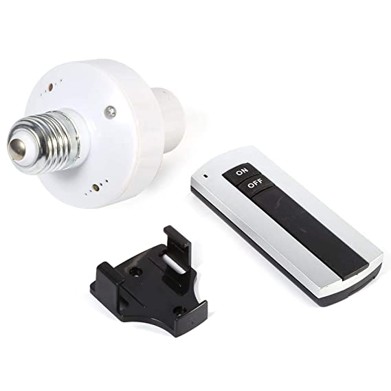 E27 Tornillo Inalámbrico Control remoto Lámpara de luz Bombilla ...