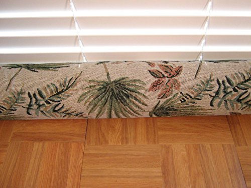 Door Draft Stopper Fabric Only Heavy Weight Tapestry Upholstery Fabric Palm Leaf Custom Made 24