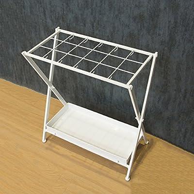 DCAH Umbrella Stand/Iron/Collapsible/Umbrella Storage Rack/Hotel Lobby Umbrella Stand White (532856cm) Umbrella Storage Rack