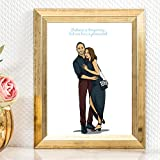 Personalized Cartoon Couple Portrait - Special Long Distance Relationship Gifts - Unique Custom Surprise For Girlfriend