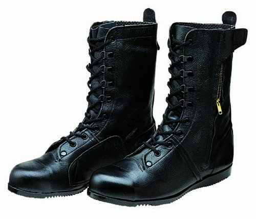 [ドンケル] 安全靴 高所 構内用 長編上靴 出初め チャック付 JIS T8101 革製L種合格(C式) デゾメ B0042JWC1A 27.5 cm|ブラック