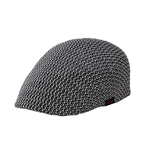 WITHMOONS Men Breathable Mesh Summer Hat Newsboy Beret Ivy Cap Cabbie AM31168 (Blackwhite)]()