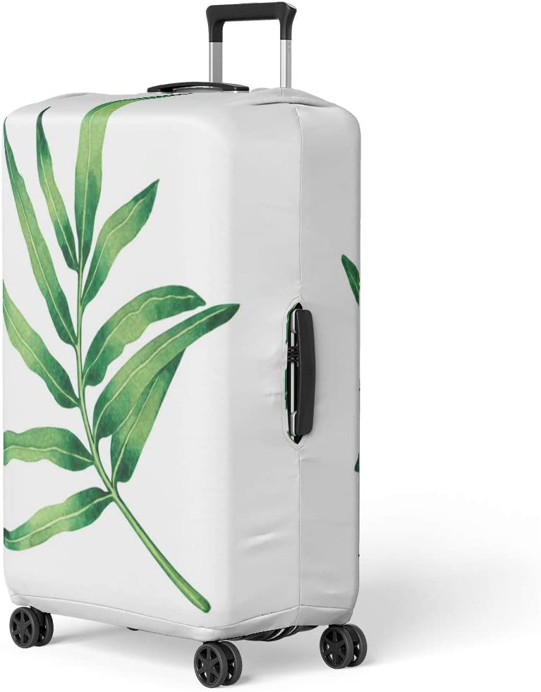 Pinbeam Luggage Cover Blue Denim Abstract Distressed Chevron Strokes Dye Tie Travel Suitcase Cover Protector Baggage Case Fits 18-22 inches