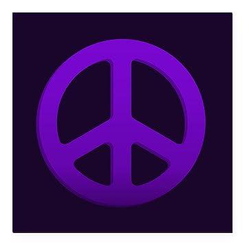 Cafepress purple fade peace sign square car magnet 3 x 3 square