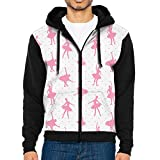 LUANSH Ballet Swan 3d Raglan Hoodie Zipper Pockets Color-Block Hoodies 90s For Men