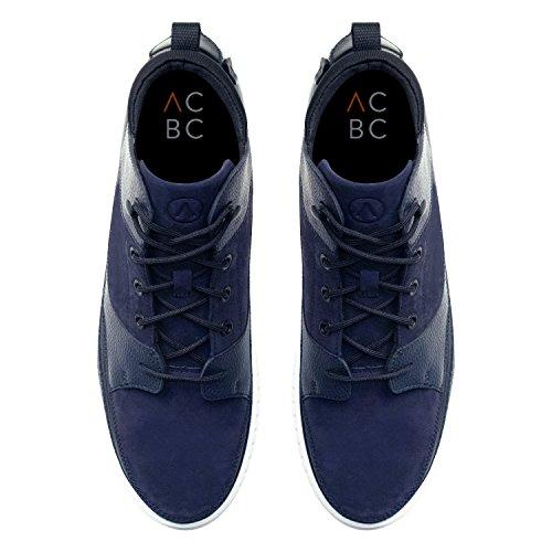 ACBC Scarpa Sneakers Alta con Stringa Surfer Suola Bianca e Scarpa Blue con Zip