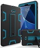Samsung Galaxy Tab A 10.1 Case,XIQI Three Layer Hybrid Rugged Heavy Duty Shockproof Anti-Slip Case Full Body Protection Cover for Tab A 10 inch(SM-T580),Black/Bule