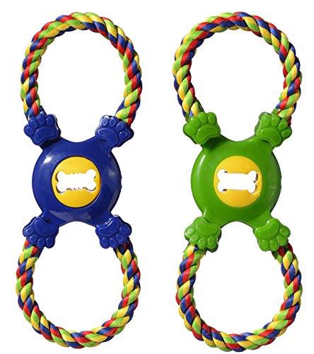 Boss Pet Pugslie's Junior Figure 8 Treat Tug Interactive Rope Dog Toy ()