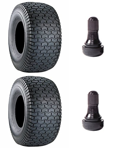 2-PACK; Carlisle Turf Saver Lawn & Garden Tire - 15x6.00-6 NHS - also includes 2 TR412 - 1 inch - valve stems