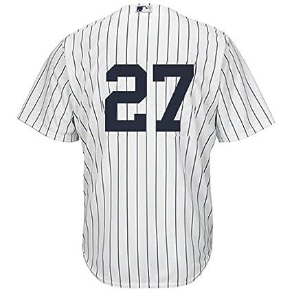Giancarlo Stanton New York Yankees  27 Men s Majestic Home Replica Cool  Base Player Jersey ( b1b82fe7e29