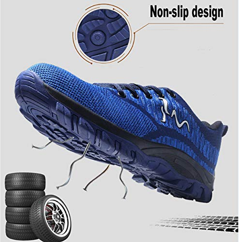 Comodas de Ali ranspirables de de Zapatillas Antideslizante Zapatillas Entrenador tone Unisex Senderismo Unisex Hombre Ligeras Azul02 Zapatos de S3 Deportivos Mujer con Trabajo Acero Seguridad Puntera grgqxzwOnR